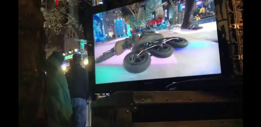 Sean's off-road skates on the floor of American Ninja Warrior