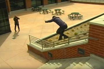 Hazen Bell Skating on Oysi Frames in Salt Lake City