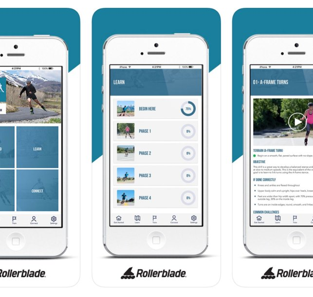 Rollerblade Launches Skate to Ski Phone App