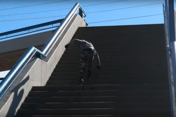 The Biggest Stair Ride of Shaun Unwin's Life