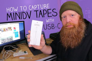 How to capture MiniDV Tapes to a MacBook Pro with Thunderbolt 3 (USB-C) Ports