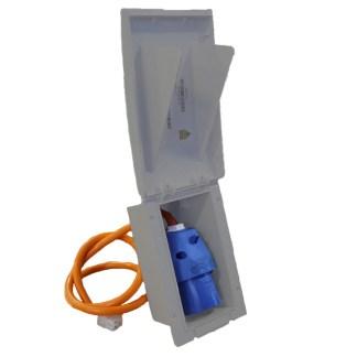 Powerpart Grey TND Rectangular Flush Inlet PO151