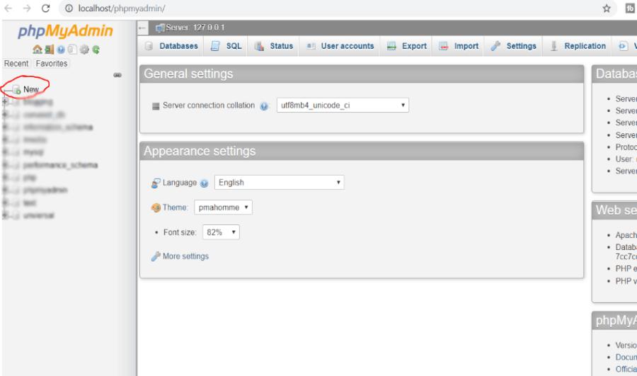 PHP my admin panel