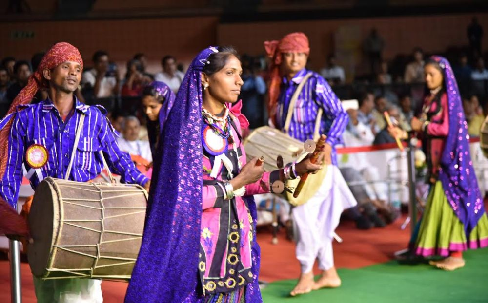Glimpses of the Carnival parade at the inauguration of the National Tribal Carnival-2016, in New Delhi on October 25, 2016.
