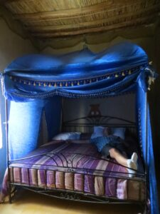 Fancy bed at the Kasbah
