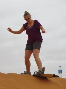 Sand boarding in the Sahara