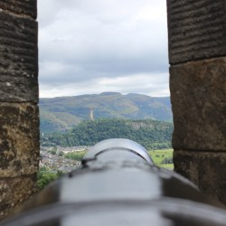 wallace monument from stirling castle