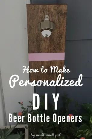 how to make diy bottle opener