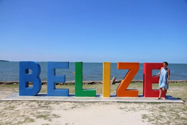 the belize sign belize city