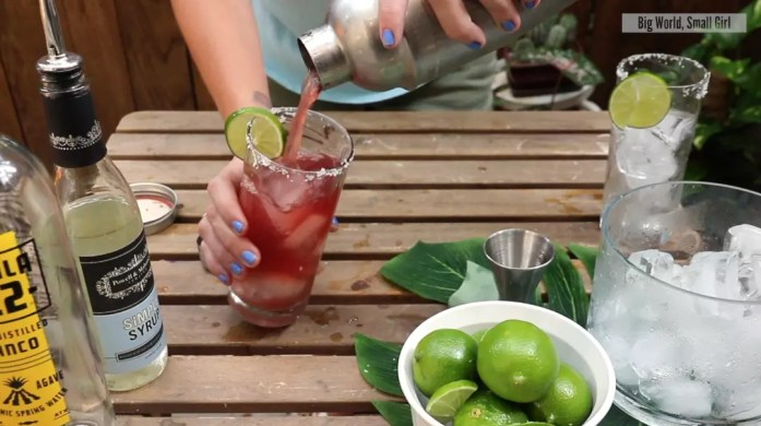 traditional margarita cocktail shaker