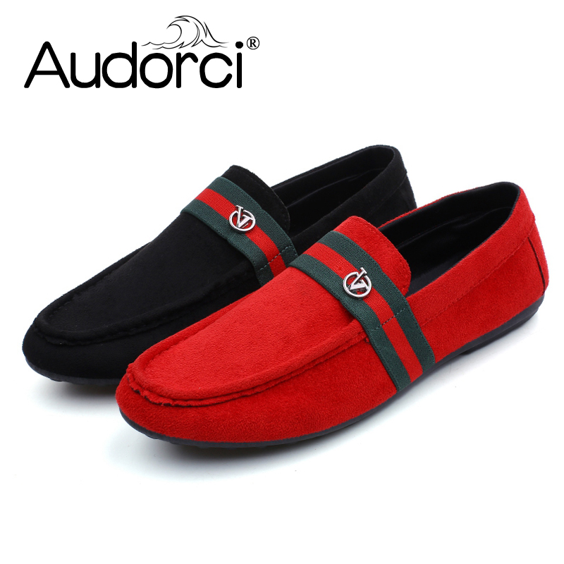 Audorci 2018 Men's Light Slip-On Flats Shoes Man Casual Boat Peas shoe Chaussure Homme Men's Male Shoe Size 39-44 2Color latest online clearance low cost for nice free shipping popular sale best sale PzPMaJI