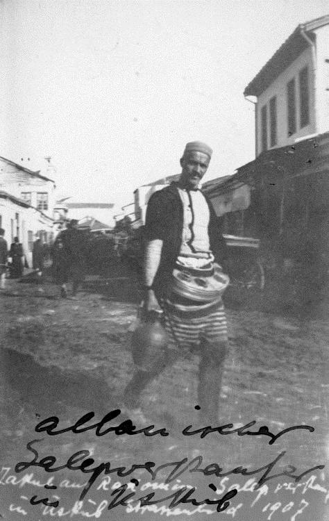Разносчик салепа. Фото: Bajazid Elmaz Doda, public domain