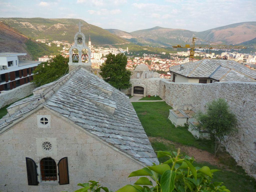 Церковь и панорама Мостара. Фото: Елена Арсениевич, CC BY-SA 3.0