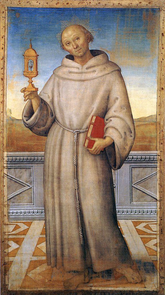 Св. Яков Маркийский. Картина Perugino, public domain