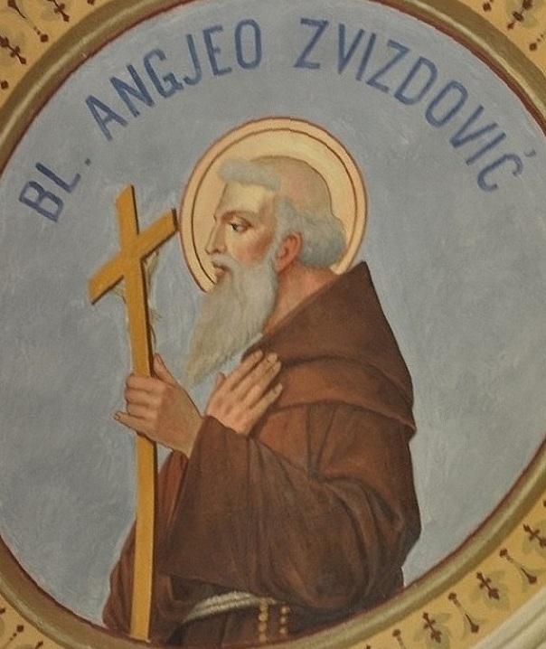 Анджео Звиздович, фреска в церкви в Ливно. Автор неизвестен, public domain