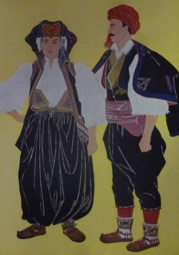 На мужчине надет пояс-бенсилах. Zorislava Čulić, Zemaljski muzej Bosne i Hercegovine Sarajevo