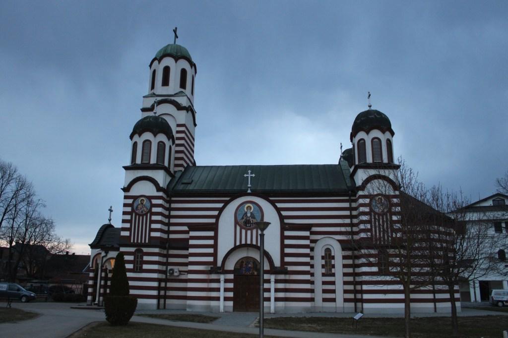 Боковой фасад церкви. Фото: Елена Арсениевич, CC BY-SA 3.0