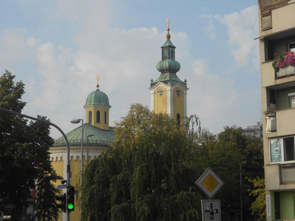 Купол и колокольня церкви св. Георгия. Фото: Елена Арсениевич, CC BY-SA 3.0