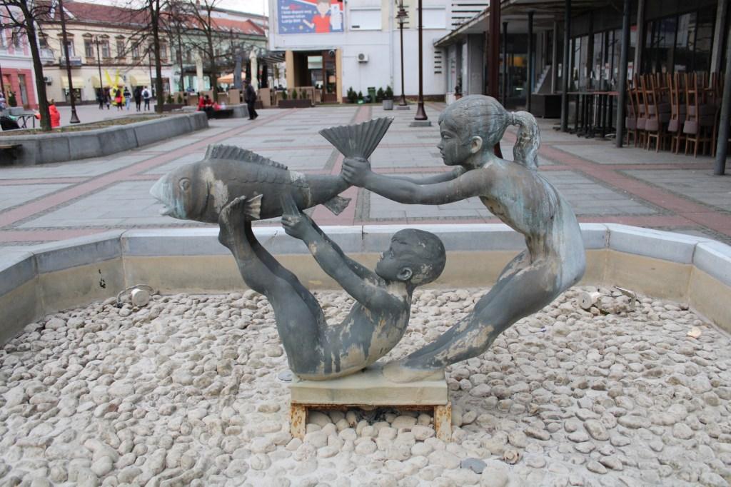 Фонтан на площади Молодёжи. Фото: Елена Арсениевич, CC BY-SA 3.0