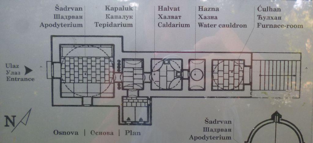 План хаммама (реконструкция). Фото: Елена Арсениевич, CC BY-SA 3.0