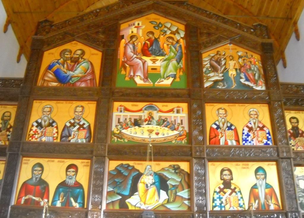 Фрагмент иконостаса в церкви св. Илии. Фото: Елена Арсениевич, CC BY-SA 3.0