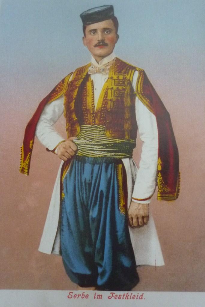 Чакшире как часть сербского костюма. Автор неизвестен, public domain