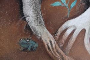 Фрагмент фрески «Сутеска – кровавая река». Фото: Елена Арсениевич, CC BY-SA 3.0