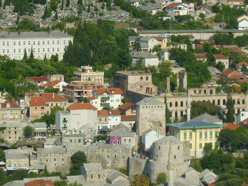 Историческое ядро Мостара. Фото: Елена Арсениевич, CC BY-SA 3.0