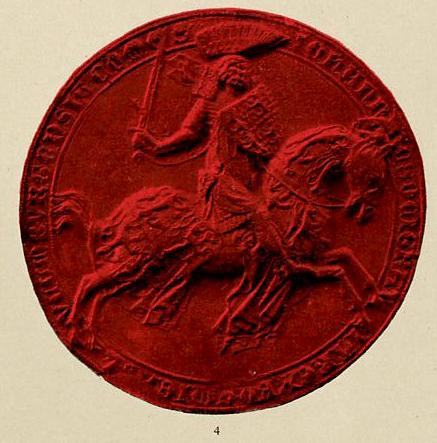 Реконструкция печати Твртко II. Hugo Gerhard Ströhl, public domain