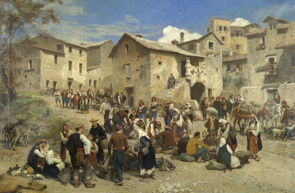 Рынок в Сараево. Alois Schönn, Public Domain