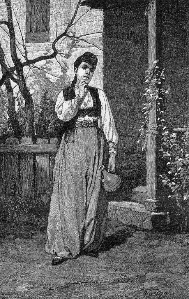 Боснийская девушка. Vastagh, Public Domain