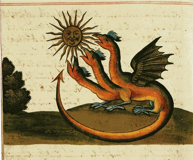 Ала поедает солнце. Sconosciuto, vissuto nel XVIII secolo, Public Domain