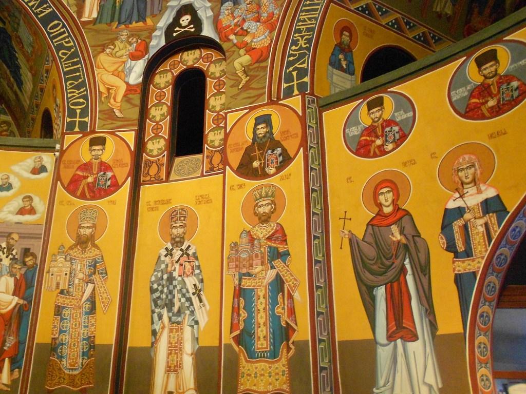 Святые на стенах церкви. Фото: Елена Арсениевич, CC BY-SA 3.0