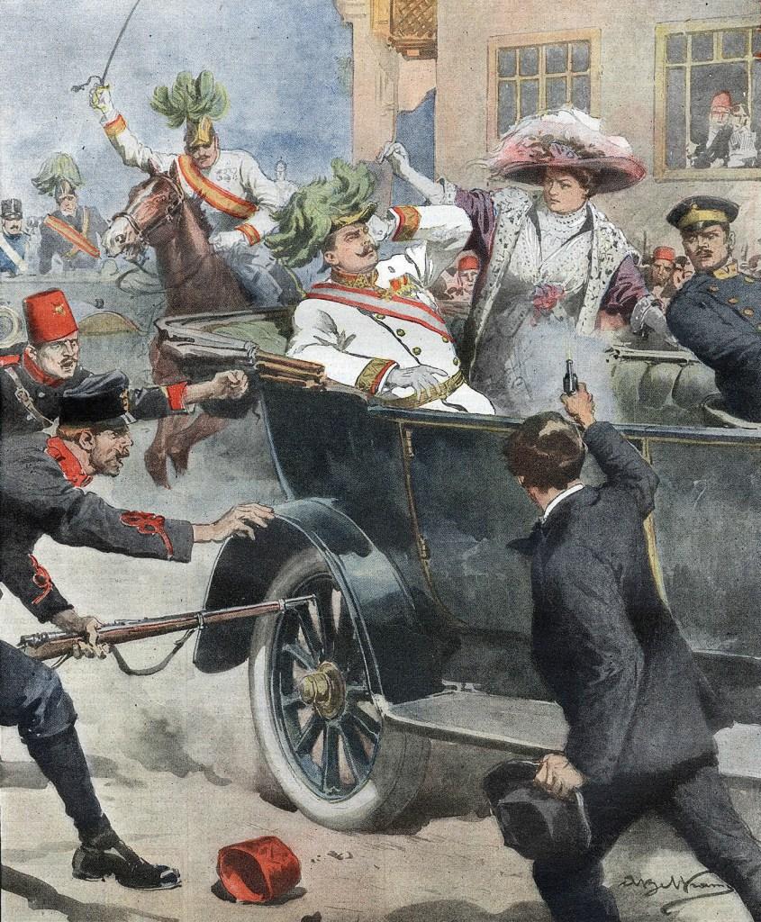 Убийство эрцгерцога Франца Фердинанда. Achille Beltrame, Public Domain