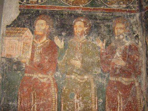 Старинная фреска в Добруне. Unknown, Public Domain