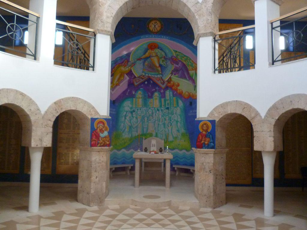 В церкви в Пребиловцах нет иконостаса и царских врат. Фото: Елена Арсениевич, CC BY-SA 3.0