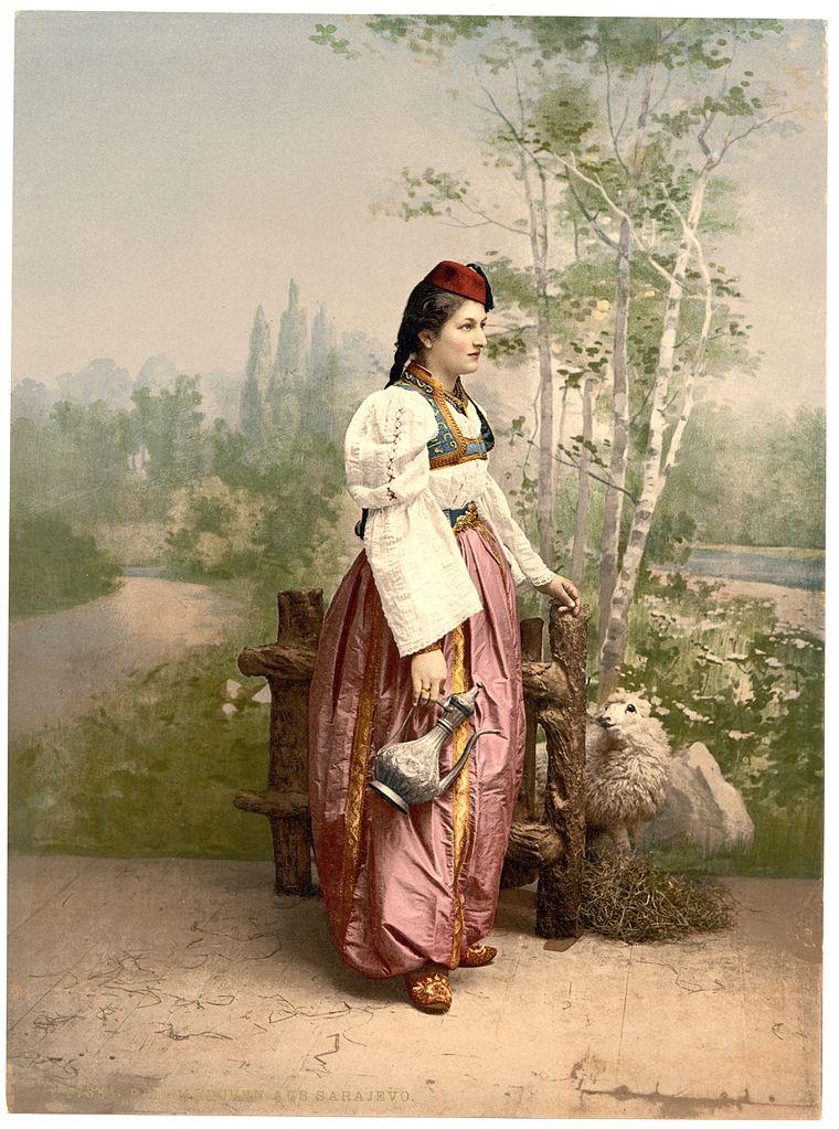 Сараевская красавица. Photochrom Print Collection, CC BY-SA 3.0