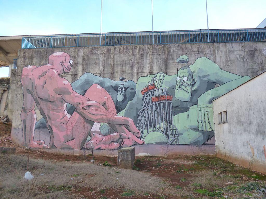 Граффити у железнодорожного вокзала. Фото: Елена Арсениевич, CC BY-SA 3.0