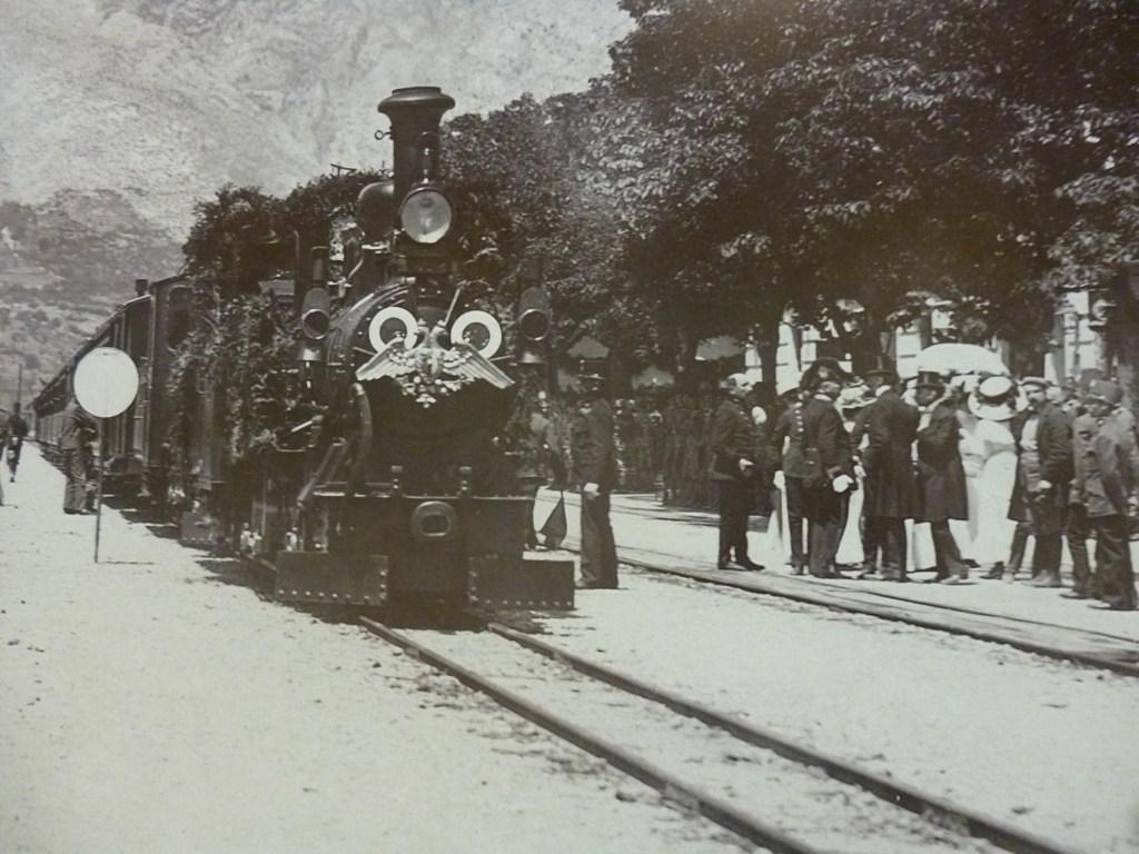 Встреча императорского поезда в Мостаре. Автор неизвестен, public domain
