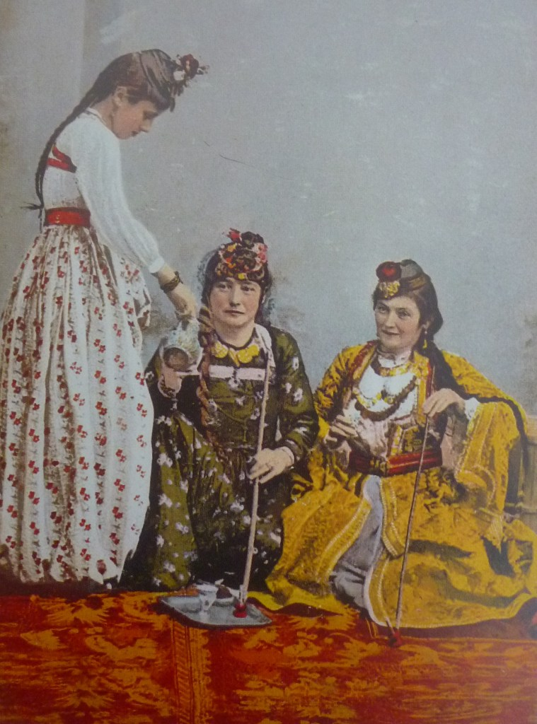 Дамы в гостях. Автор неизвестен, public domain
