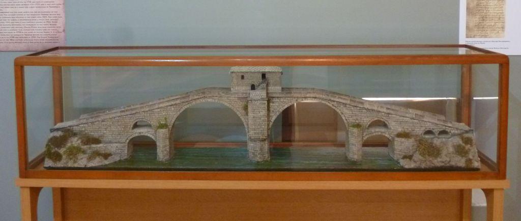Макет моста Арсланагича. Так он выглядел до ремонта конца 19-го века. Фото: Елена Арсениевич, CC BY-SA 3.0