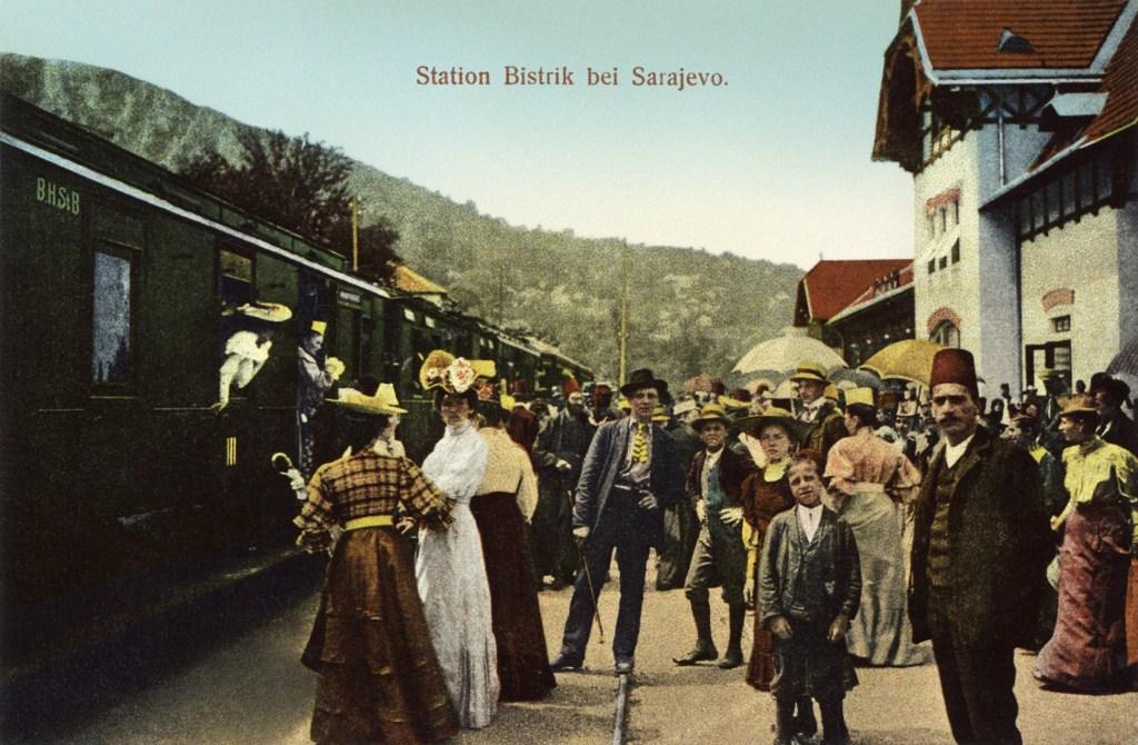 Станция Бистрик в 1906 году. Daniel A. Kajon, Sarajevo, public domain