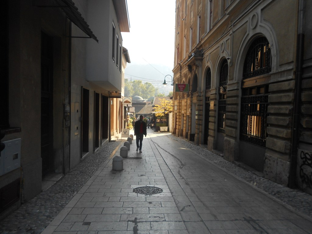 Улица Проте Баковича. Вид на Башчаршию. Фото: Елена Арсениевич, CC BY-SA 3.0