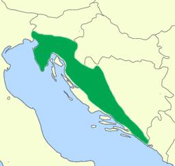 Ареал обитания европейских протеев. Yerpo, GNU 1.2