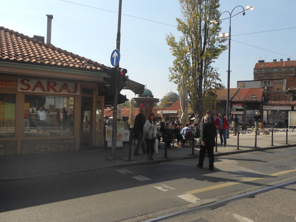 Улица Телали и площадь Башчаршия. Фото: Елена Арсениевич, CC BY-SA 3.0