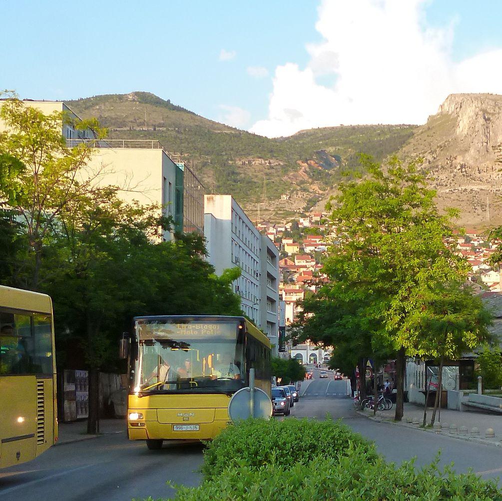 Городской автобус в Мостаре. Фото: Елена Арсениевич, CC BY-SA 3.0