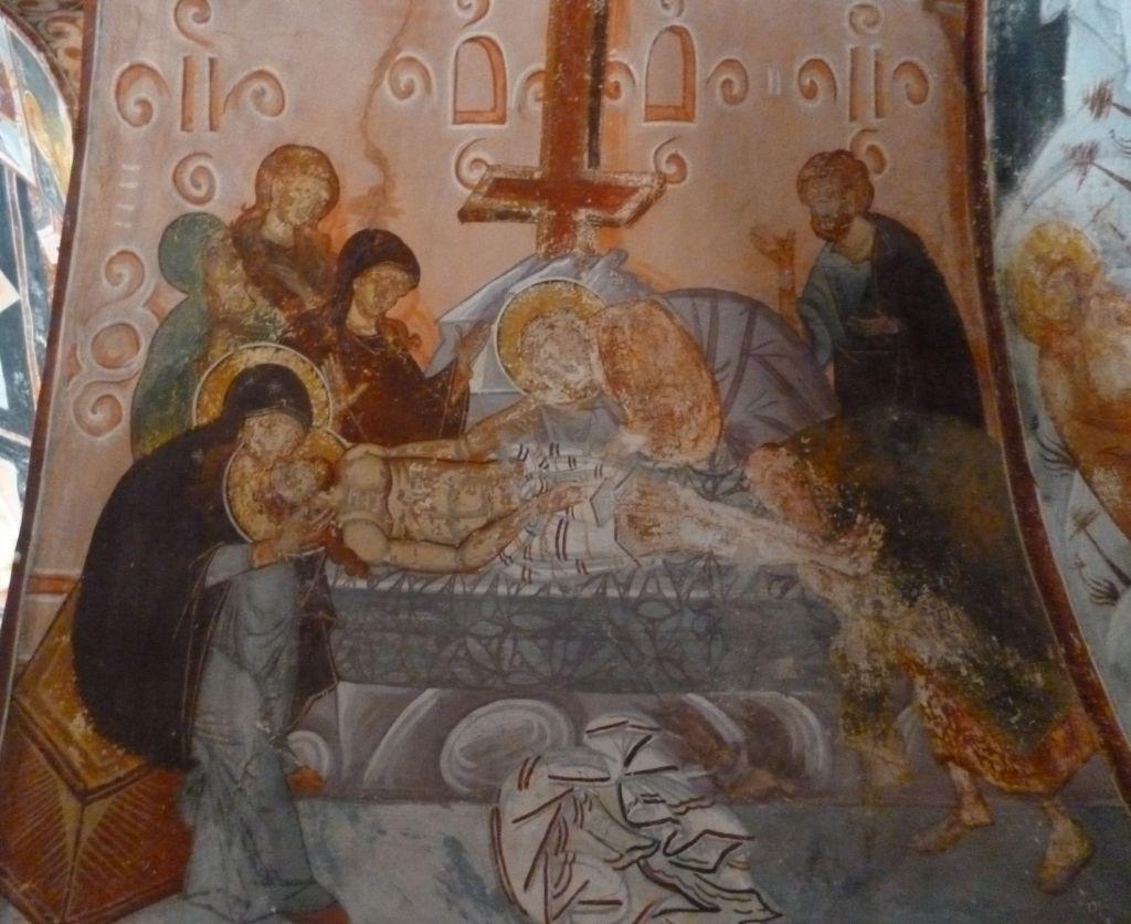 Положение во гроб, фреска Георгия Митрофановича. Фото: Елена Арсениевич, CC BY-SA 3.0