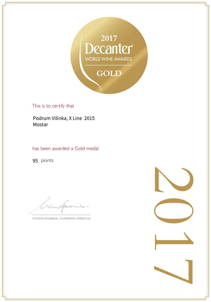 Золото на Decanter World Wine Awards 2017. Велимир Эреш, Copyright