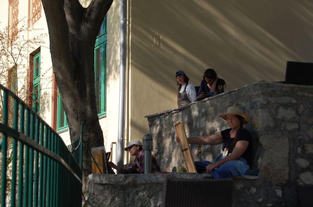 «Империум-пленэр» в Мостаре, весна 2017 года. Террасы мектеба. Фото: Елена Арсениевич, CC BY-SA 3.0