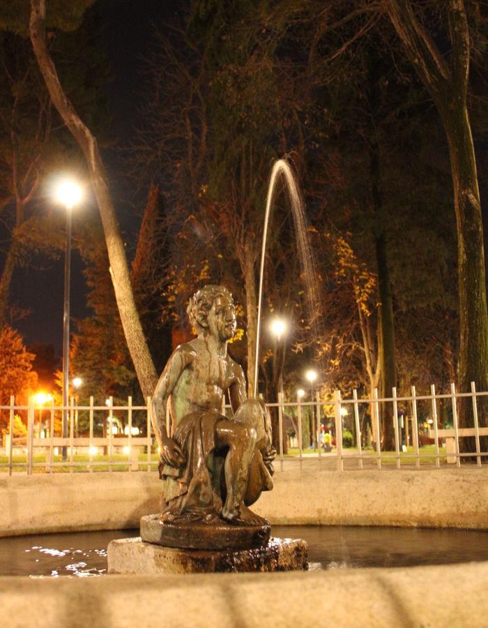 Фонтан в ночи. Фото: Елена Арсениевич, CC BY-SA 3.0